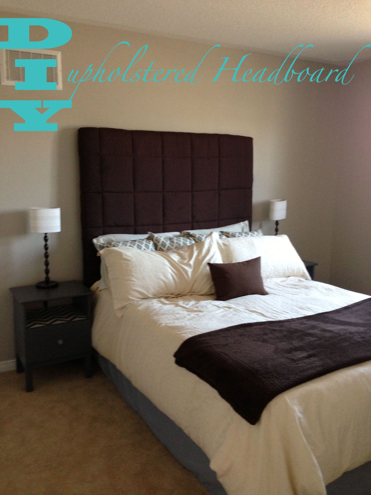 DIY Headboard- Quick and Easy Upholstered Headboard using a ...