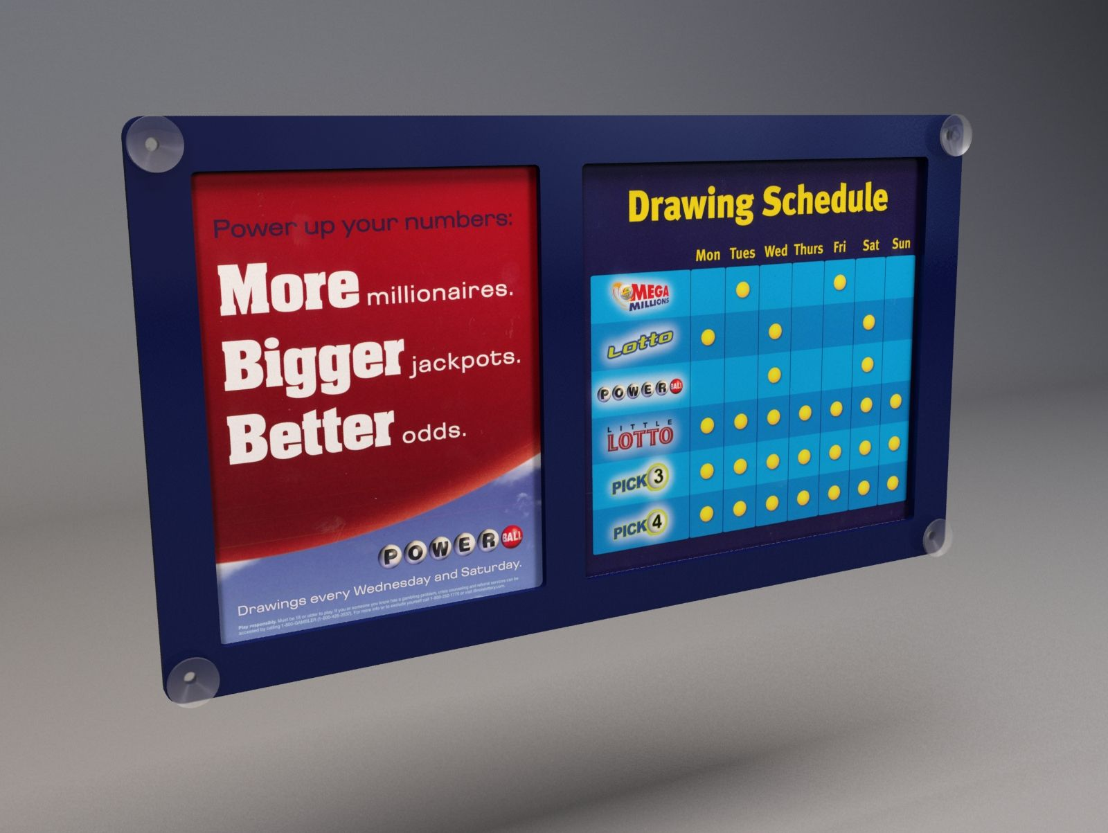 Illinois Lottery - Window/Suction Mounted #Signage by DNI | Digital