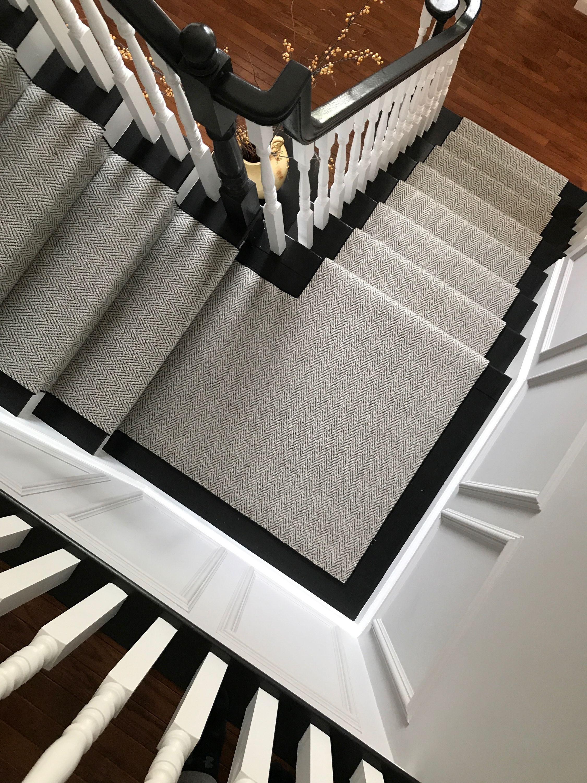 Momeni, Heather, Gabardine Grey carpet runner, Stair