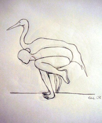 bakasana  drawings crow pose sketches