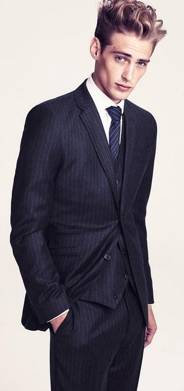 Jeremy Dufour #threepiecesuit #pinstripes