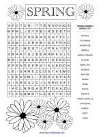 More spring home school printables