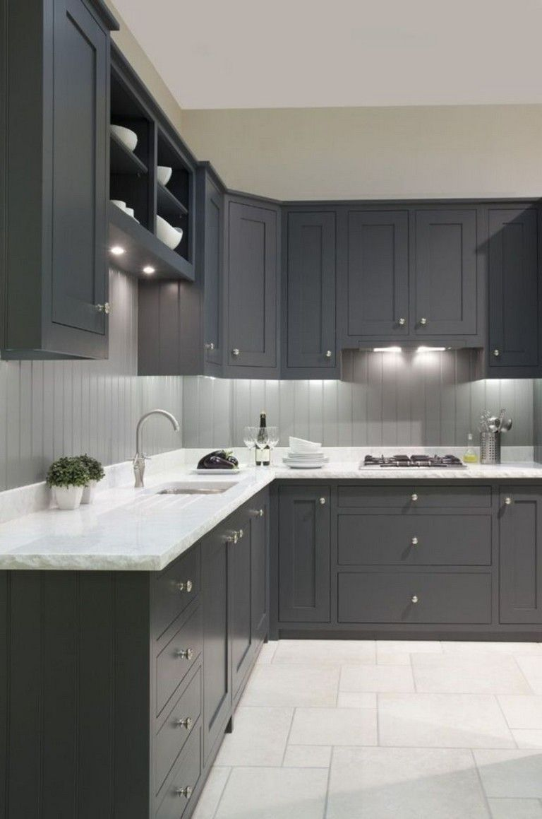 4+ Fashionable Dark Grey Kitchen Design Ideas #kitchendesign