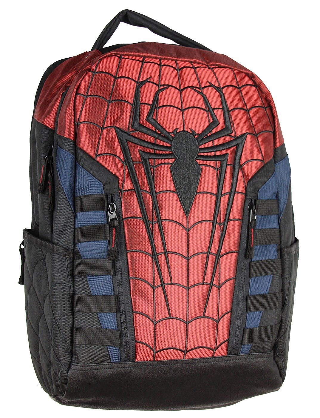 458733f286c8 Marvel Spiderman Logo Backpack. Officially licensed Spider-man merchandise.  TSA friendly padded laptop