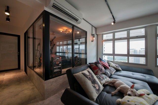 Super Cool Hdb Renovation Project At Anchorvale Renotalk Singapore Interior Design Singapore Home Living Room Decor Apartment