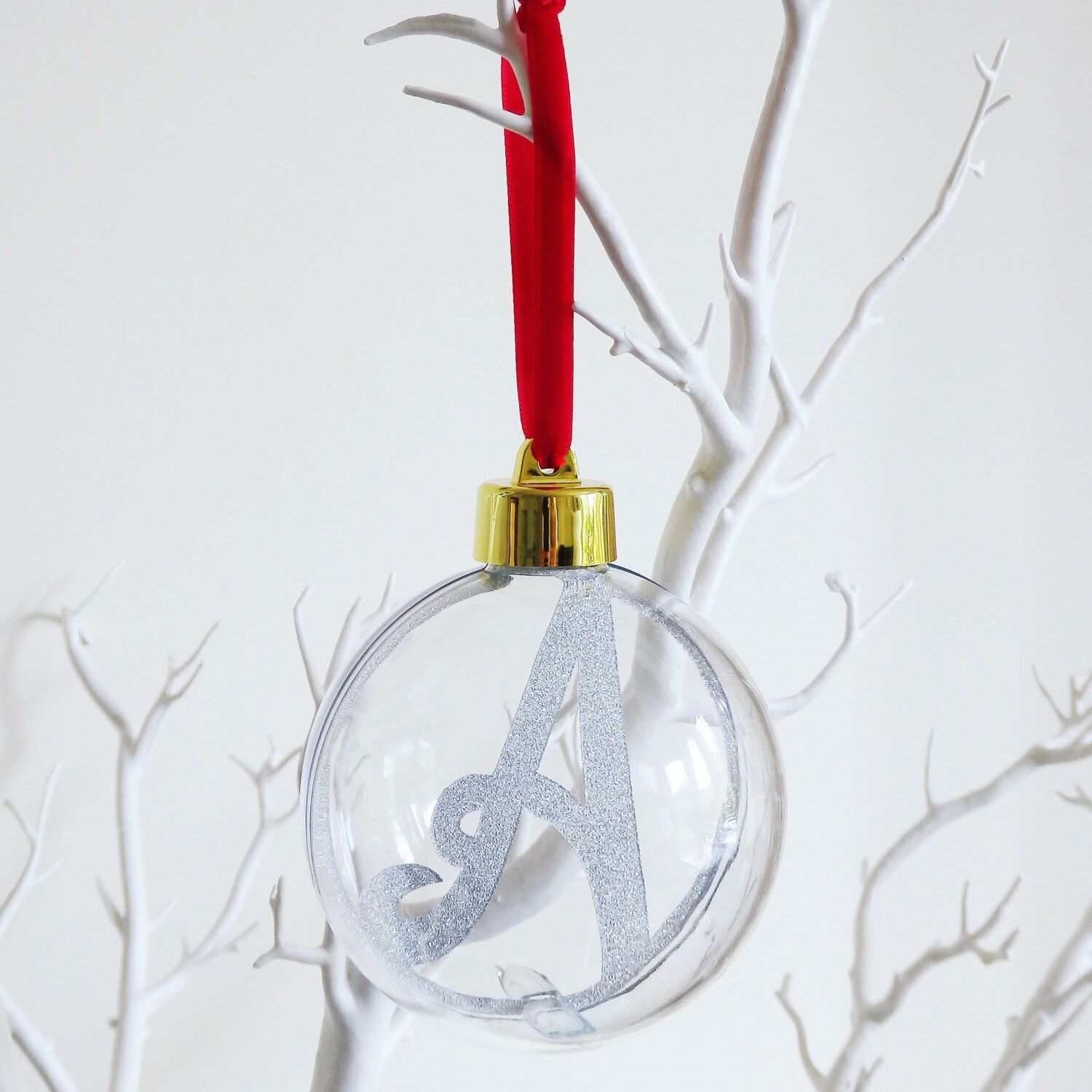 Personalised Initial Paper Cut Christmas Bauble/ Ornament | sewing ...