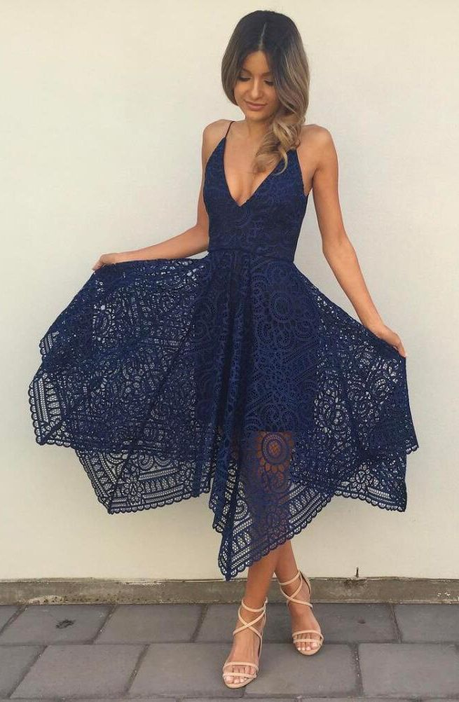 Sexy navy blue lace prom dresses, prom dresses sexy spaghetti straps, dresses for women, women's prom dresses new arrival, high quality prom dresses 2017, sexy navy blue dresses for women
