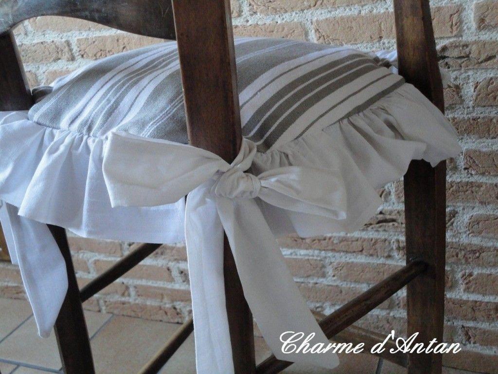 Modele Galette De Chaise Shabby Galette De Chaise Housse De Chaise Coussin Chaise