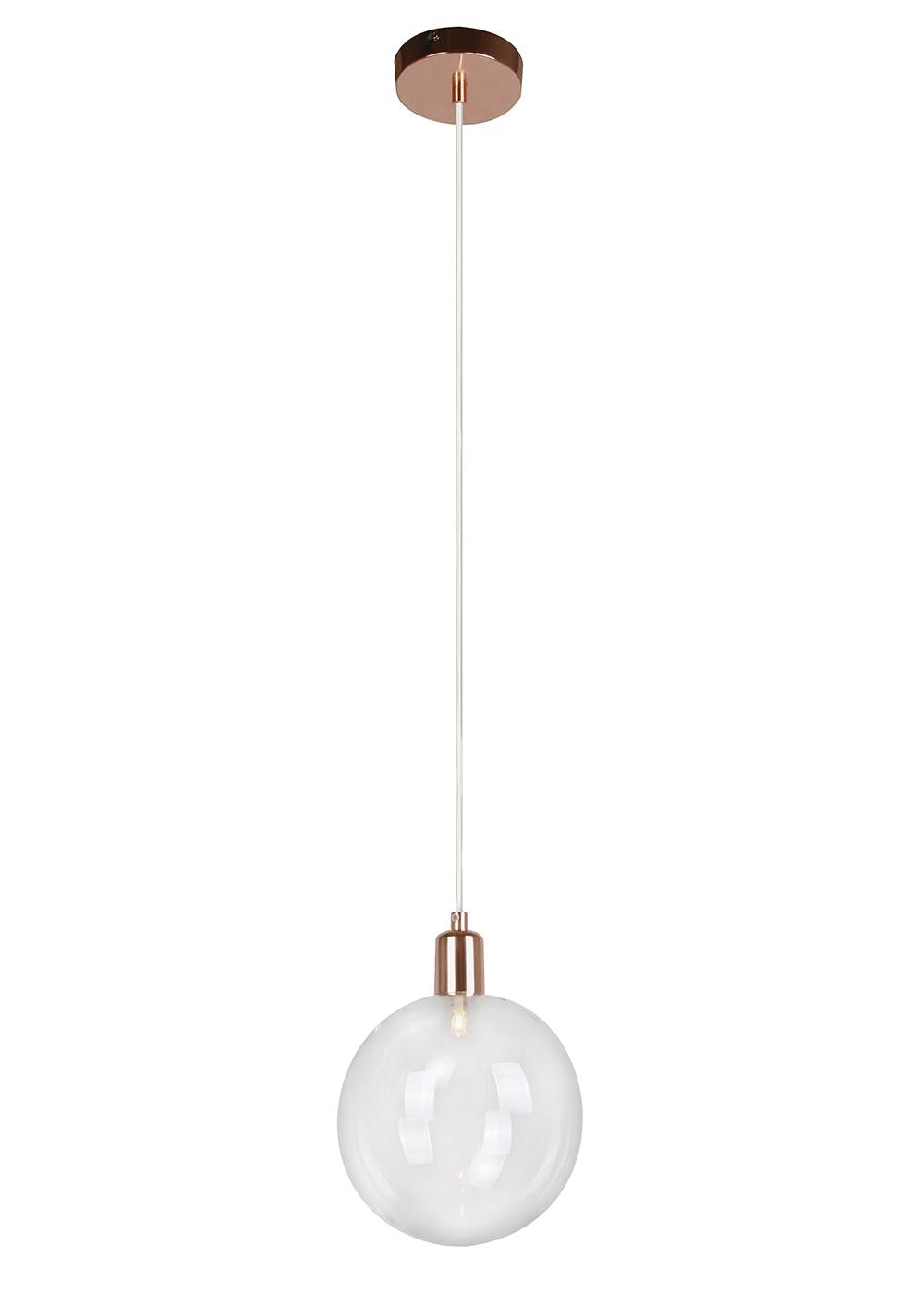 Byron copper pendant light h110cm 51cm x w18cm round glass byron copper pendant light h110cm 51cm x w18cm copper a single large round glass aloadofball Images