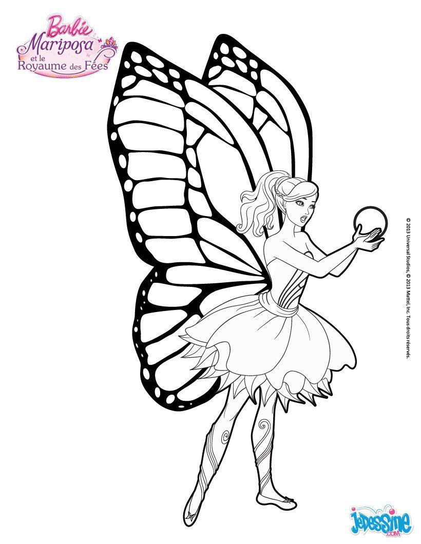 Coloriage Barbie : Mariposa et la Fleur de Flottauvent | Coloring ...