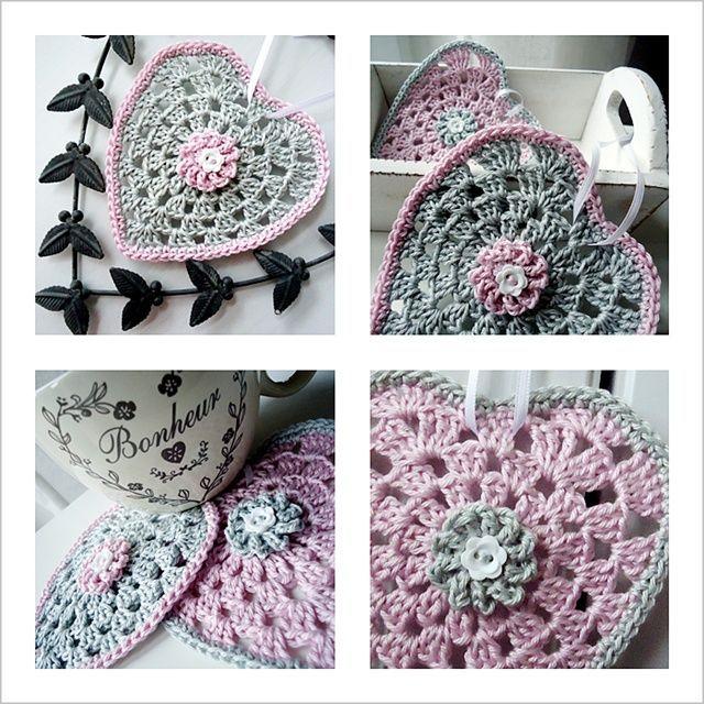 Pretty granny hearts but no link to original source | Cuori ...