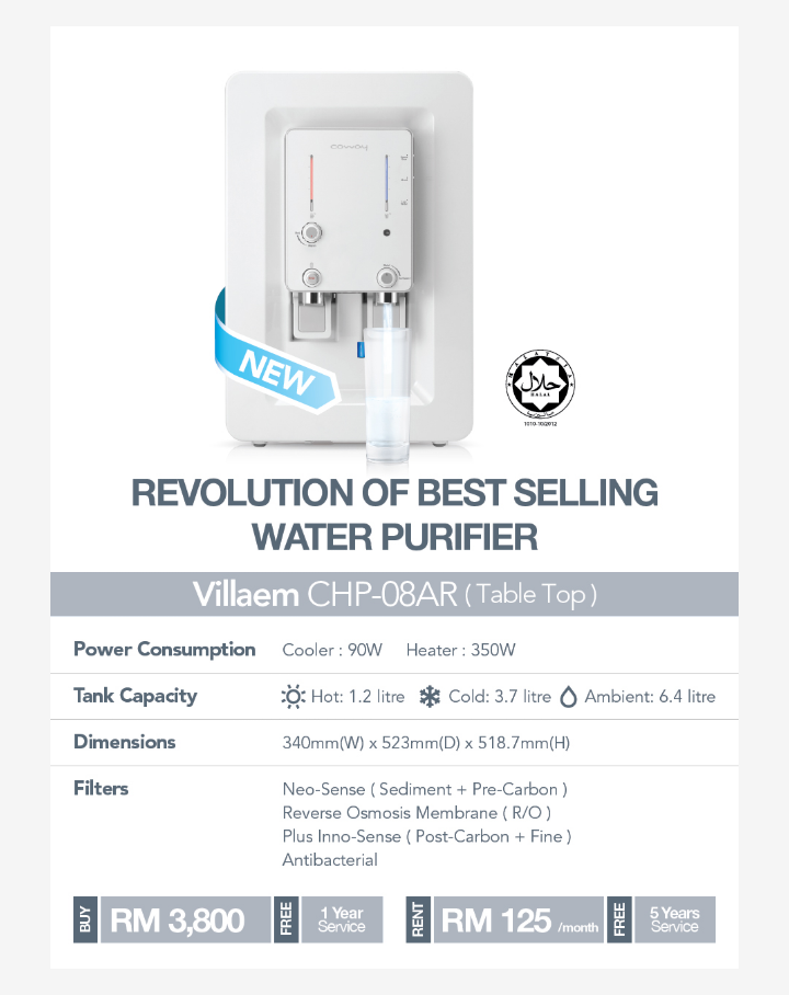 Villaem Water Purifier Filters Italian Buffet