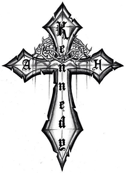 Tattoo Design Desain Tato Salib Pinterest