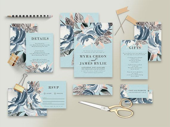 The Best In Etsy Wedding Invitation Suites Affordable Wedding