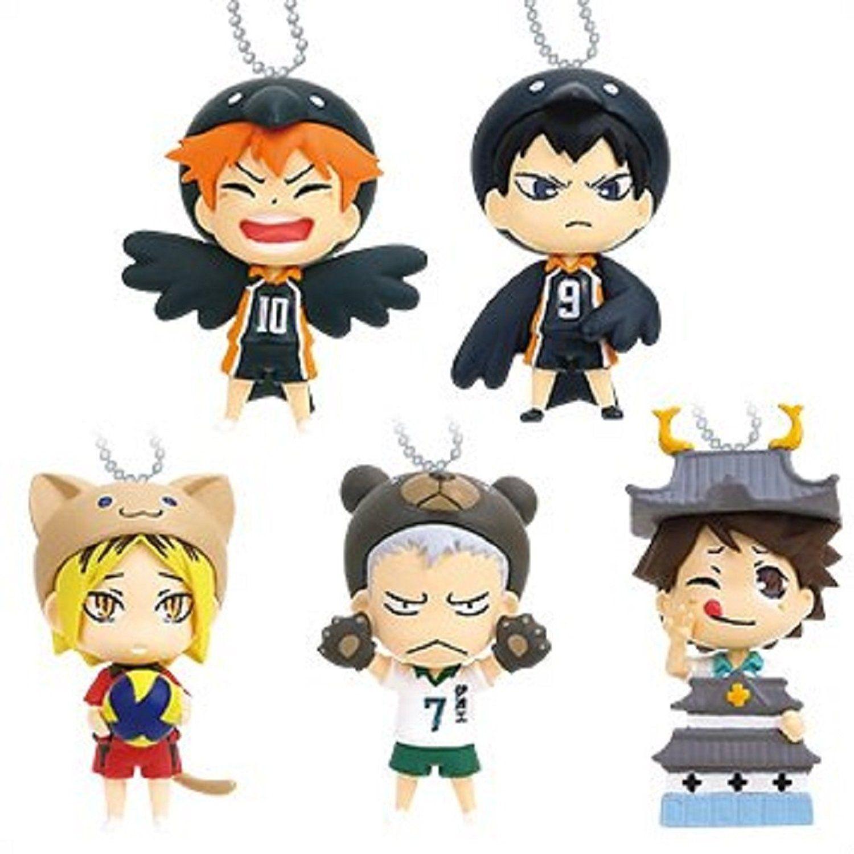 Amazon Com Takara Tomy Haikyuu Animal Costume Mascot Set Of 5 Toys Games Haikyuu Fantasy Art Dolls Haikyuu Anime