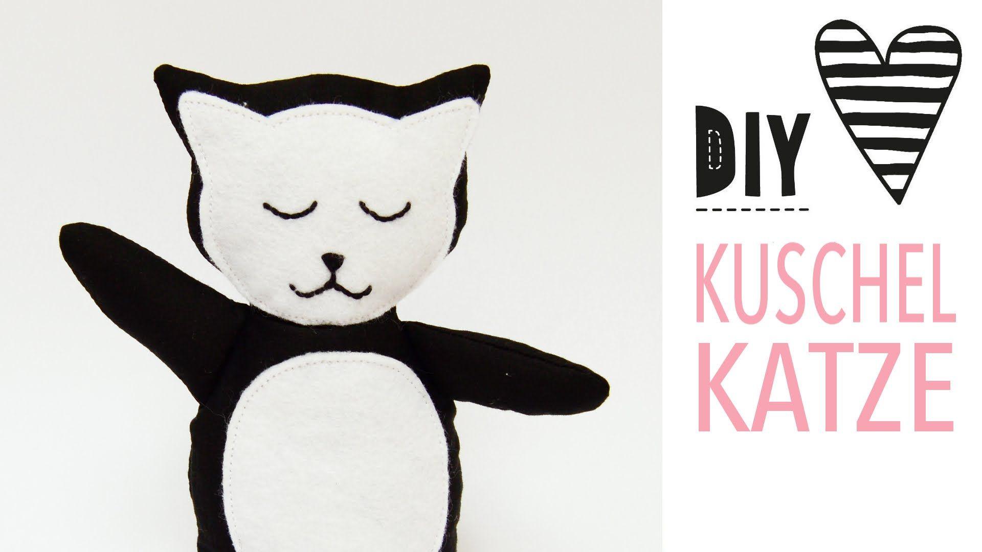 Kuscheltier Katze nähen mit kostenlosem Schnittmuster | Sewing ...