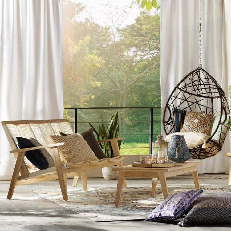 Anner Tear Drop Swing Chair with Stand   Swinging chair ...