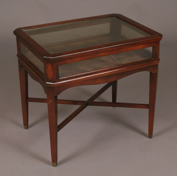 specimen display end table glass top