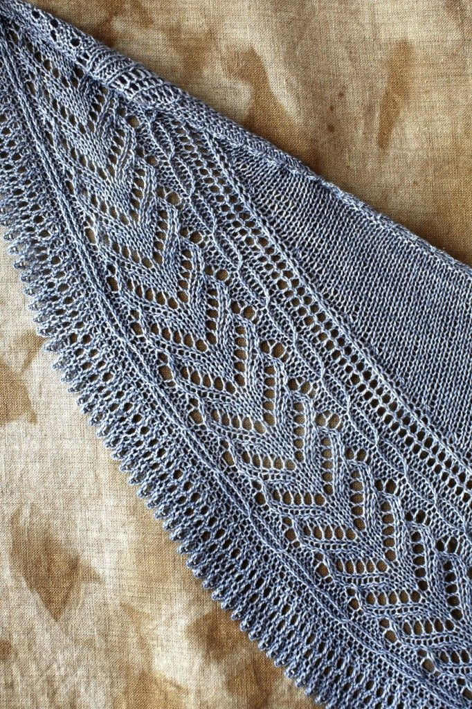 Loop, London Josephine Shawl beaded border detail My life in knitwear blog