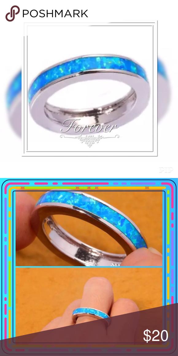 Blue Fire Opal Ring Fire opal ring, Fire opal, Opal rings