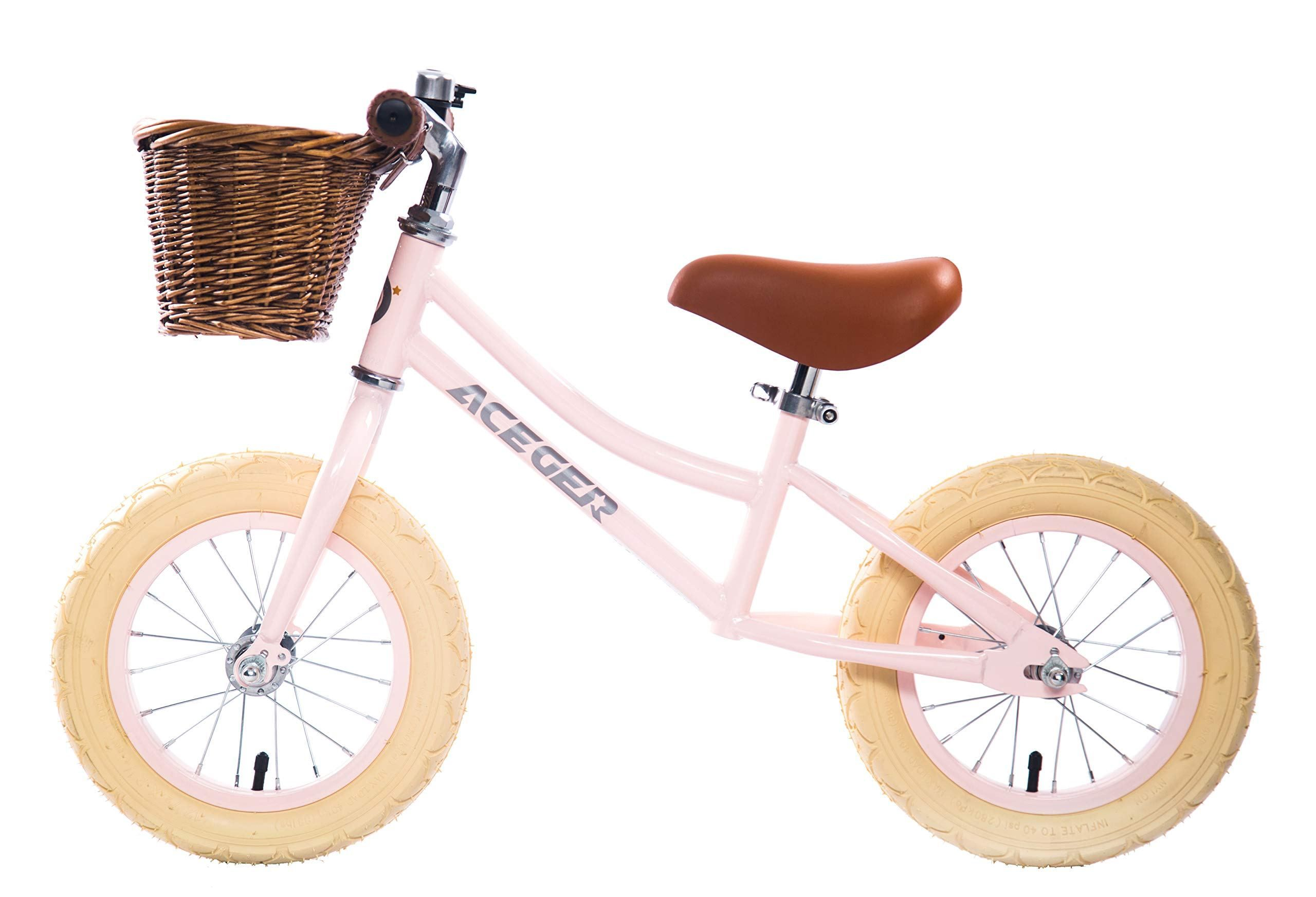 Aceger Balance Bike For Kids Lightweight With Basket Ages 2 To 5