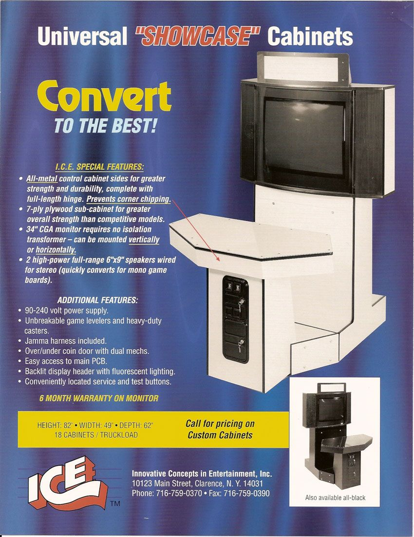 The Arcade Flyer Archive Video Game Flyers Showcase Cabinet Ice Showcase Cabinet Arcade Cabinet Arcade