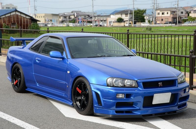 Skyline Gtr R34 Blue | 1999 Nissan Skyline R34 GTR Vspec 2.8 600PS