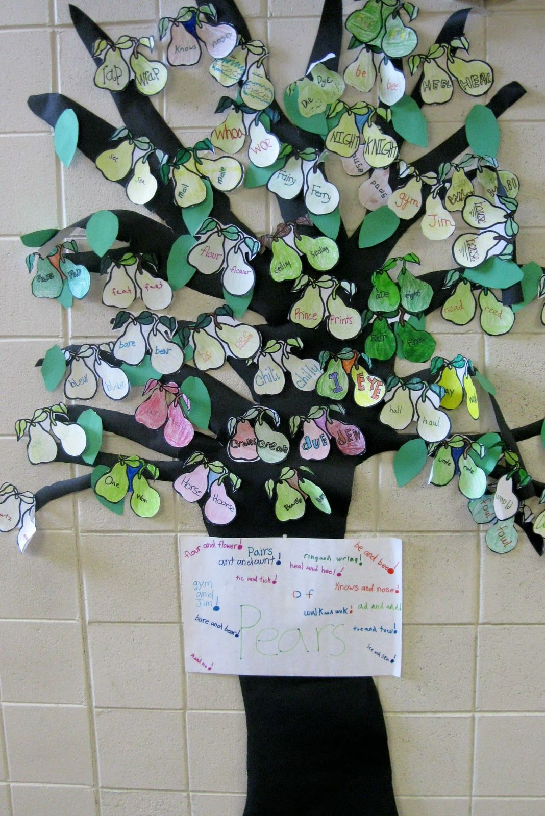 Pear Pair Tree For Keeping Track Of Homophones