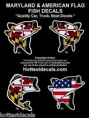 Maryland fish decal sticker rockfish large mouth bass car truck boat american decals stickers vinyl art home décor