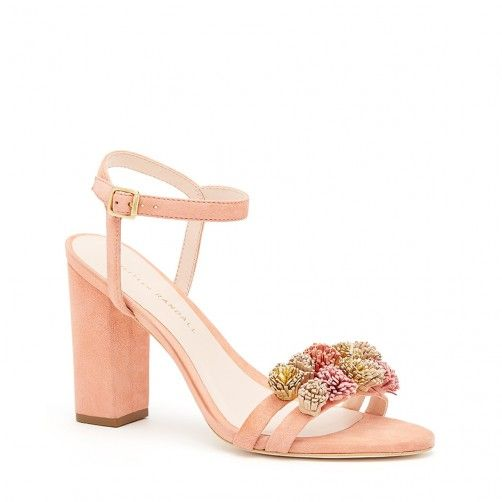 Layla Embellished Sandal: Give your feet a splash of color this season with  a block-heel sandal cut from lush suede and detailed with a strap of richly  hued ...