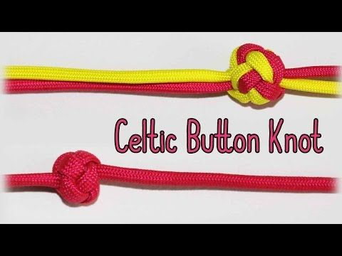 How to Tie the Celtic Button Knot {Single & 2+ Strands} - YouTube