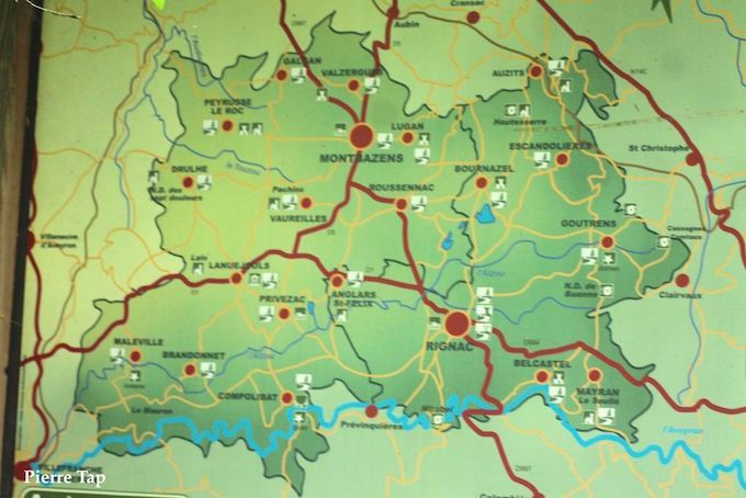 Belcastel (Aveyron, France) sur la carte | Aveyron, France, Cartes