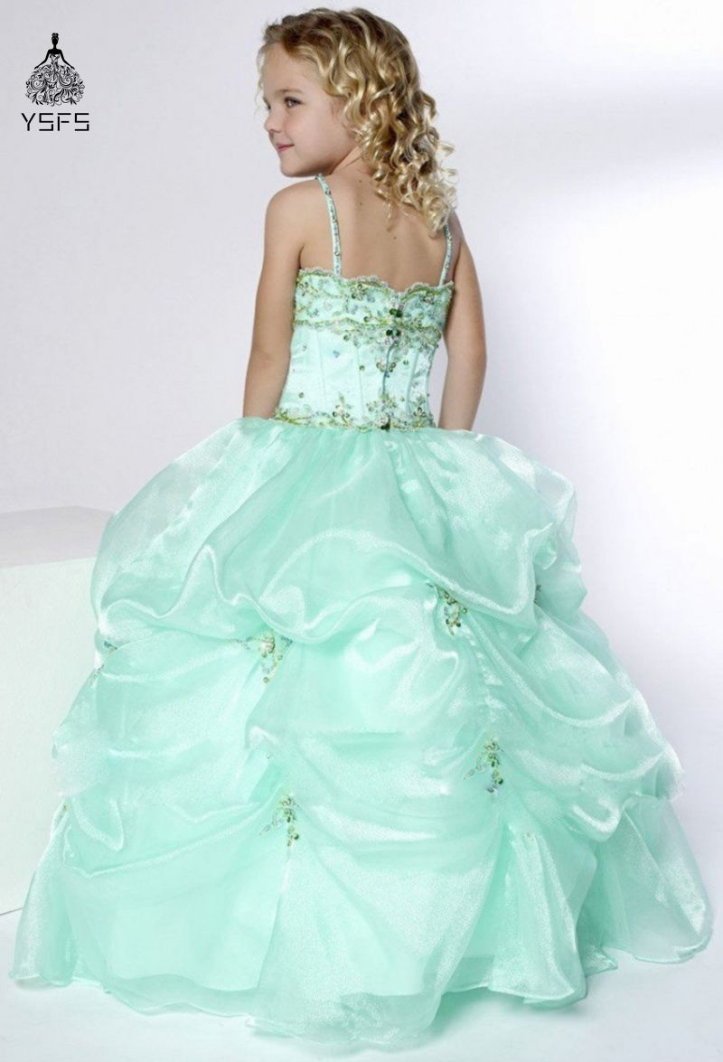 Click to Buy << Cute Girls Pageant Dresses for Little Girls Gowns ...
