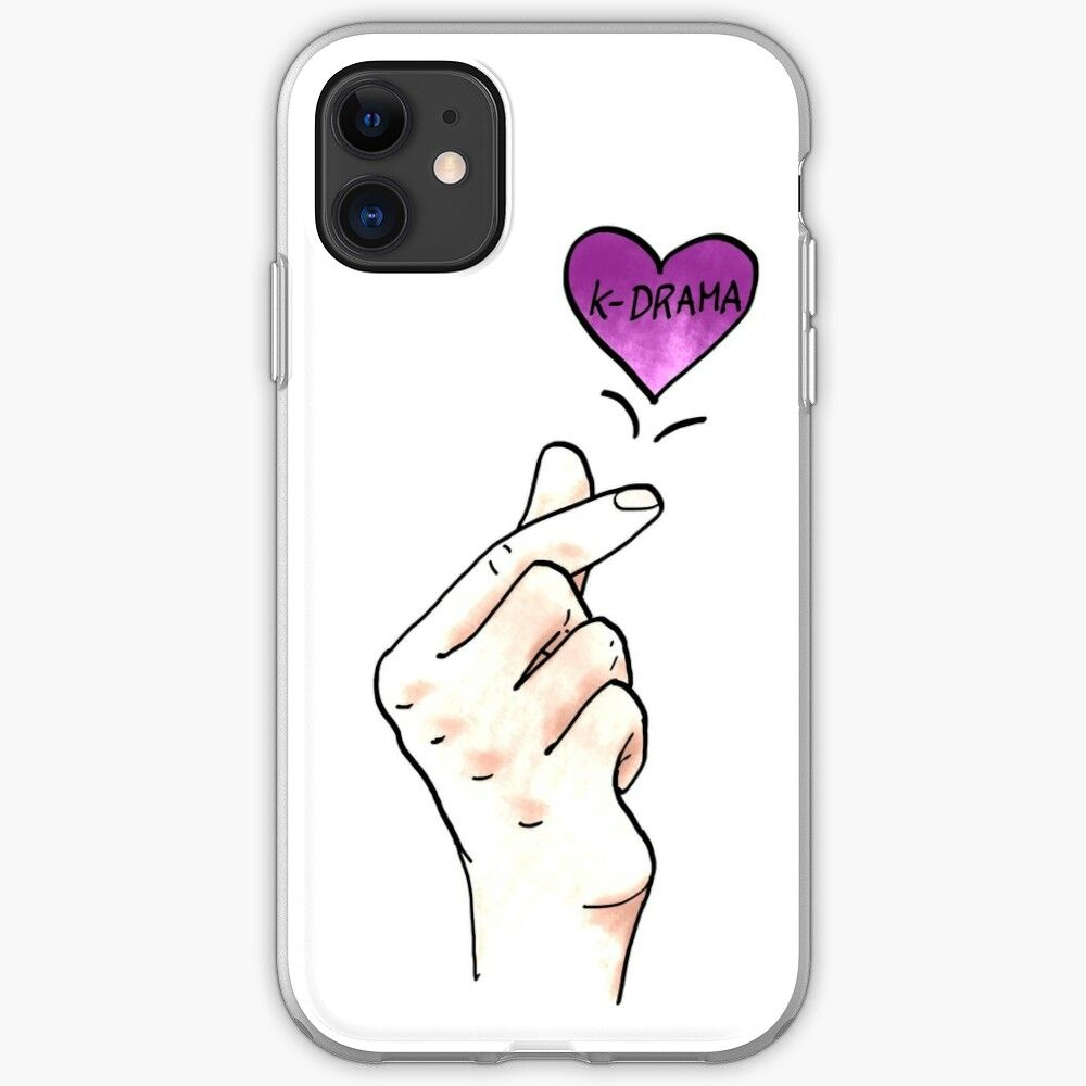 I Heart K Drama Kdrama Finger Heart Korean Drama Fans Iphone 11 Soft By Multifandomfan Iphone Case Mini Case