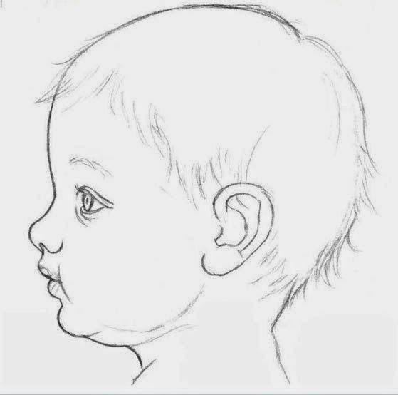 رسم رضيع بقلم الرصاص للمبتدئين Dz Fashion Baby Face Drawing Drawing For Beginners Pencil Art Love