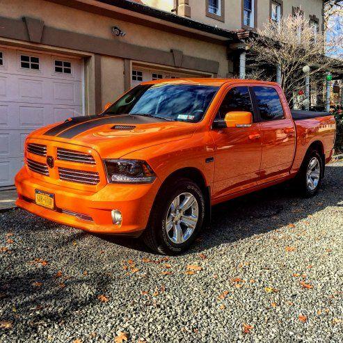 New To The Forum Here My 2015 Orange Ram Dodge Ram Dodge Trucks Ram Dodge Trucks