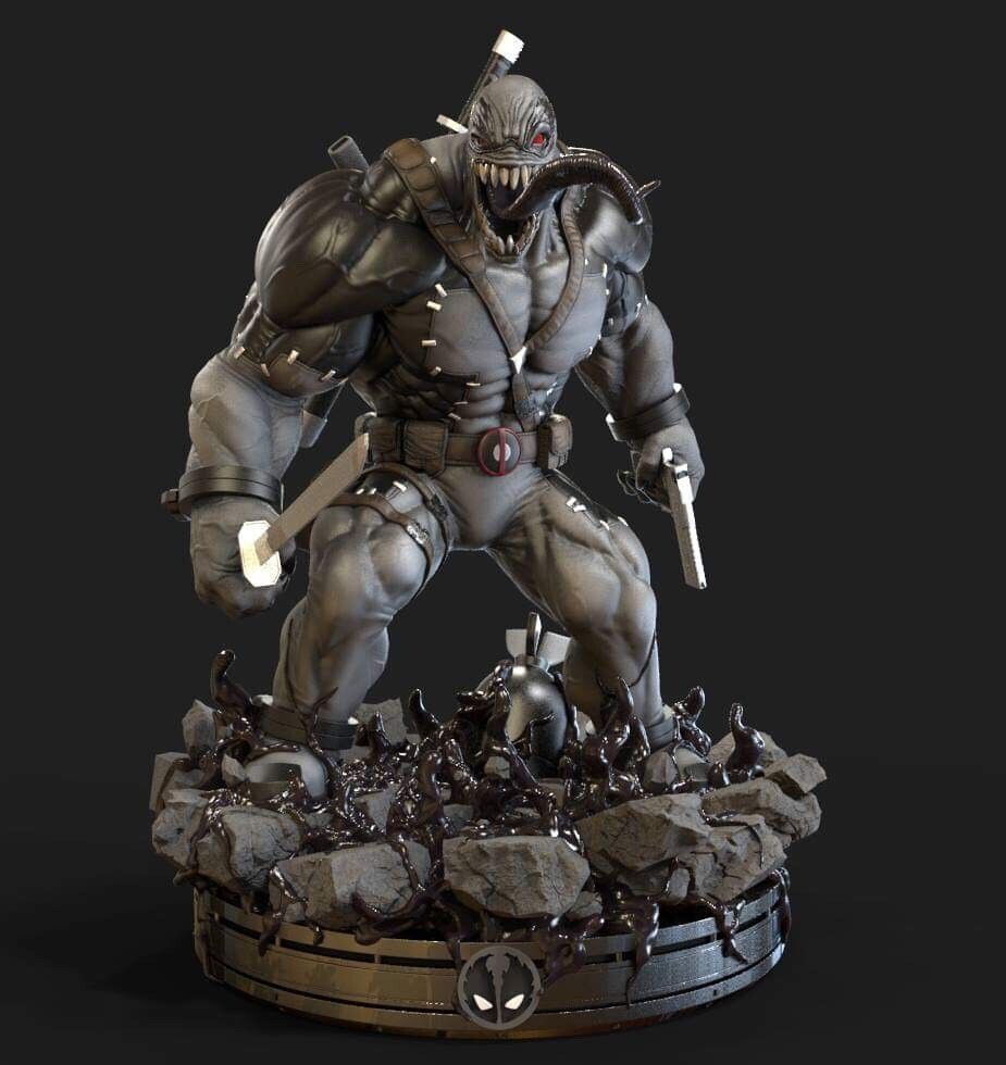 Artstation Venompool Xforce Noppakhao Nakarmdee Artwork Toy Collection Statue