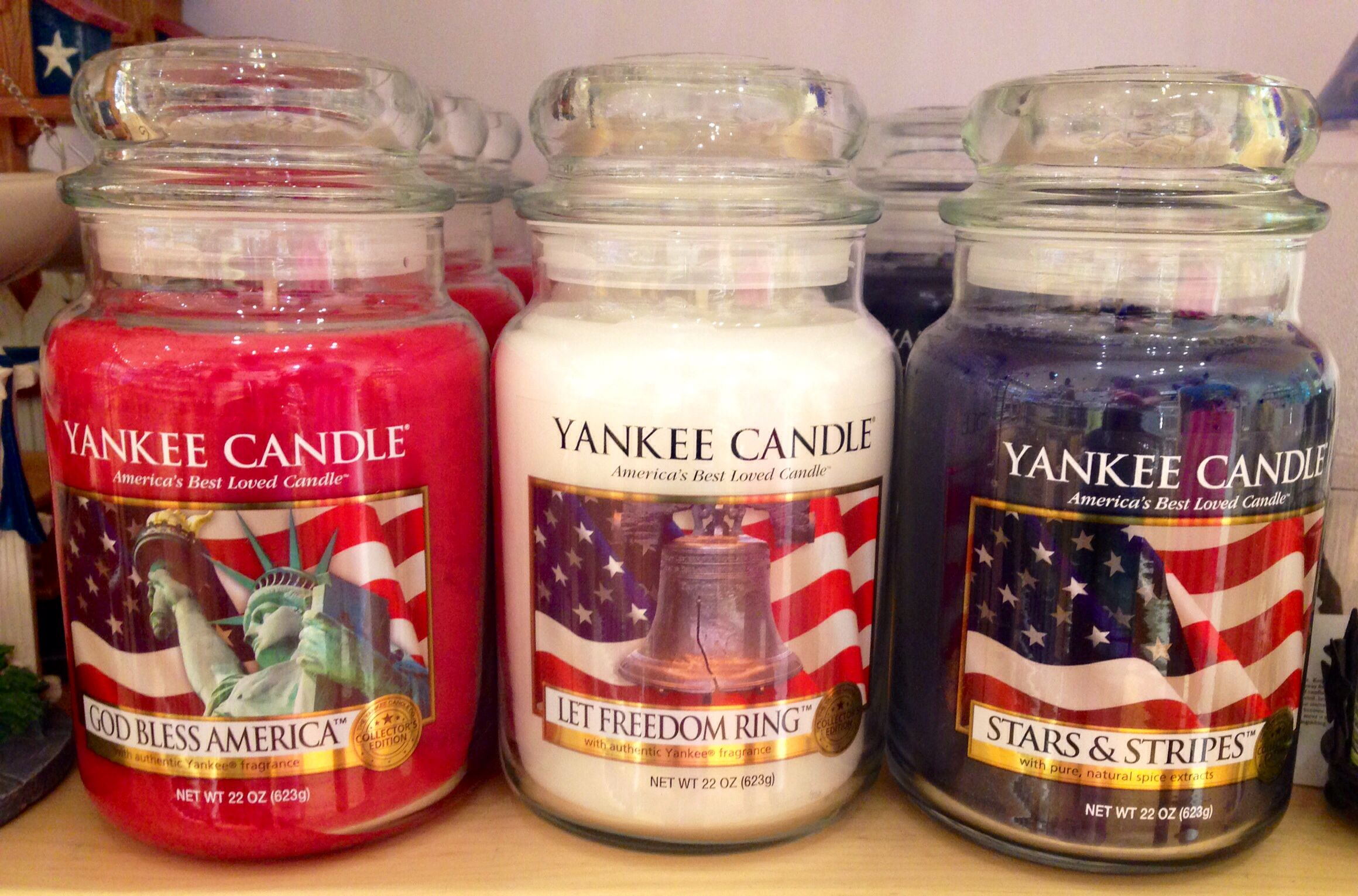 Patriotic Candles From Yankee Candle Patriotic Candles Yankee Candle Let Freedom Ring