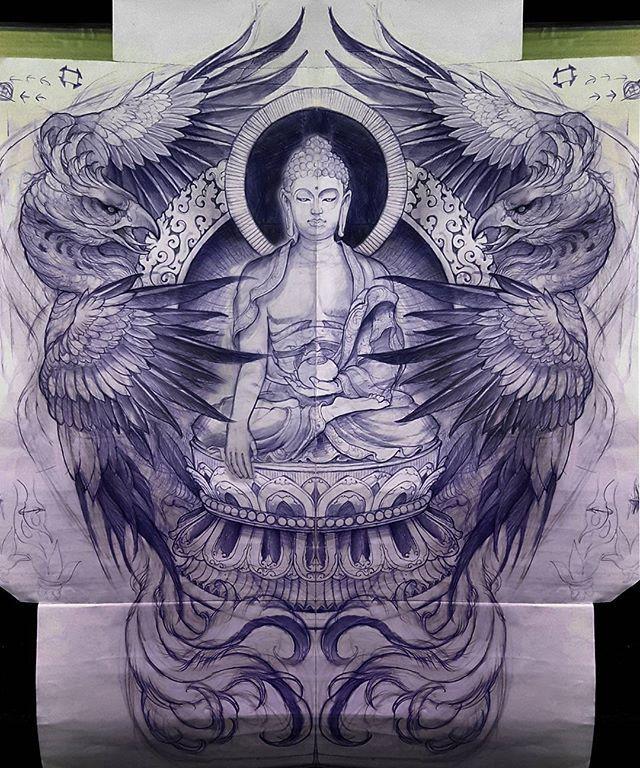 Back Tattoo Concept Substitute Milarepa Buddha Tattoo Buddha Tattoos Buddha Tattoo Design
