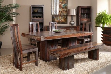 Gray Wash Sheesham Wood Dining Table Cheap Dining Sets