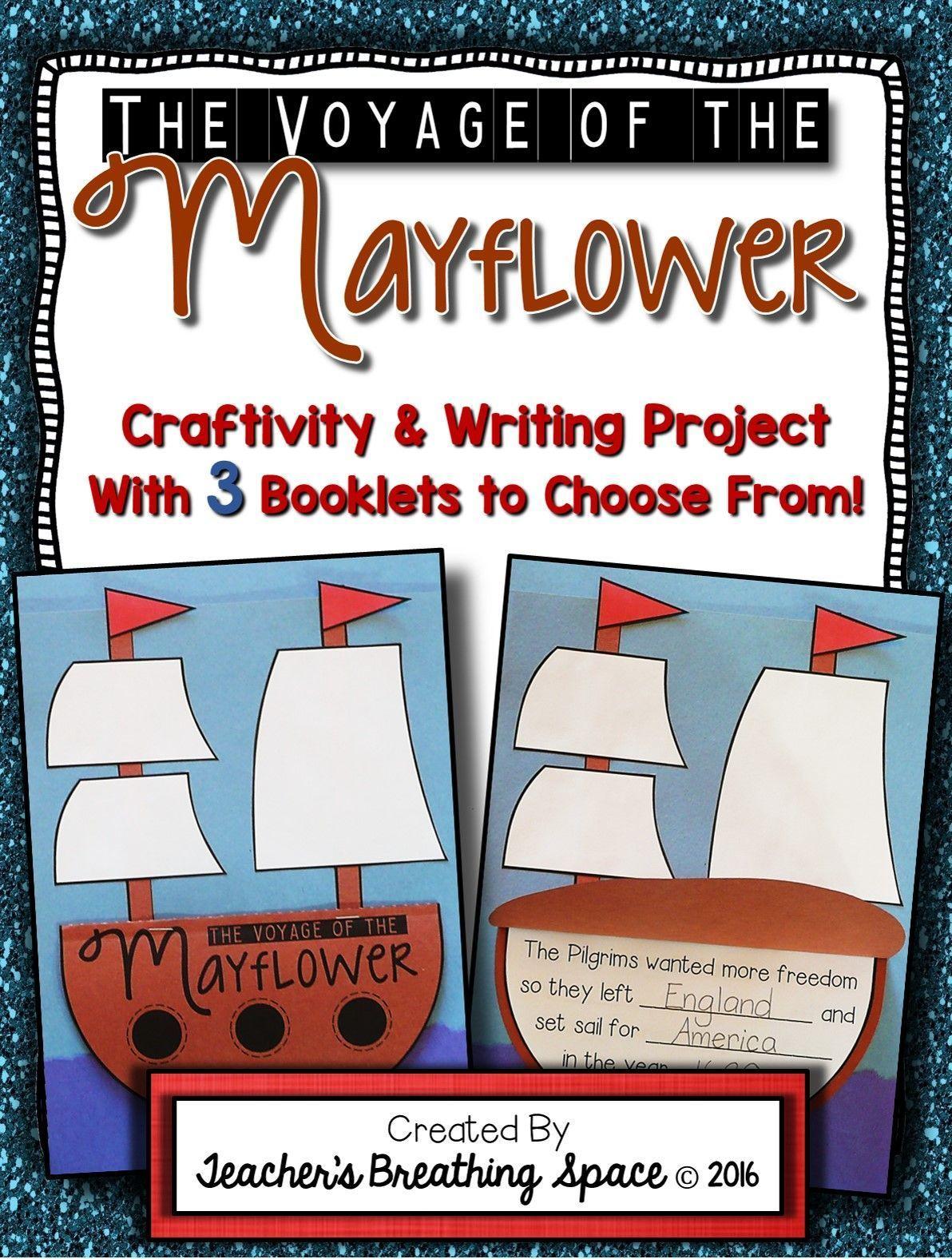 Mayflower Craftivity Mayflower Book Writing Project