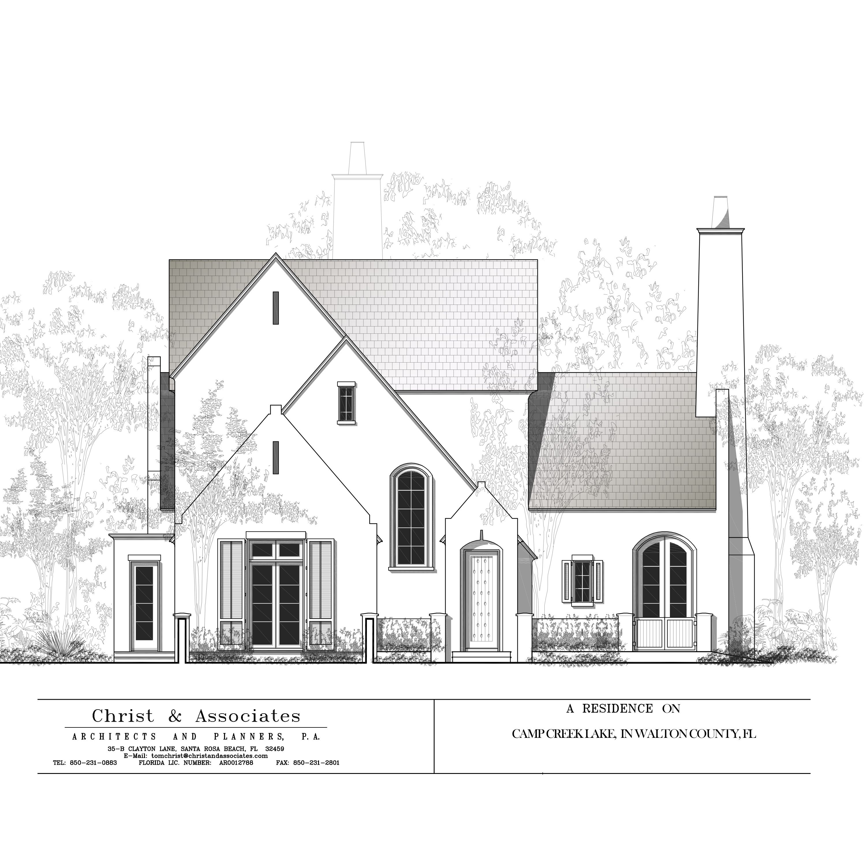 Front Elevation Of A Beautiful New Home Located On Camp