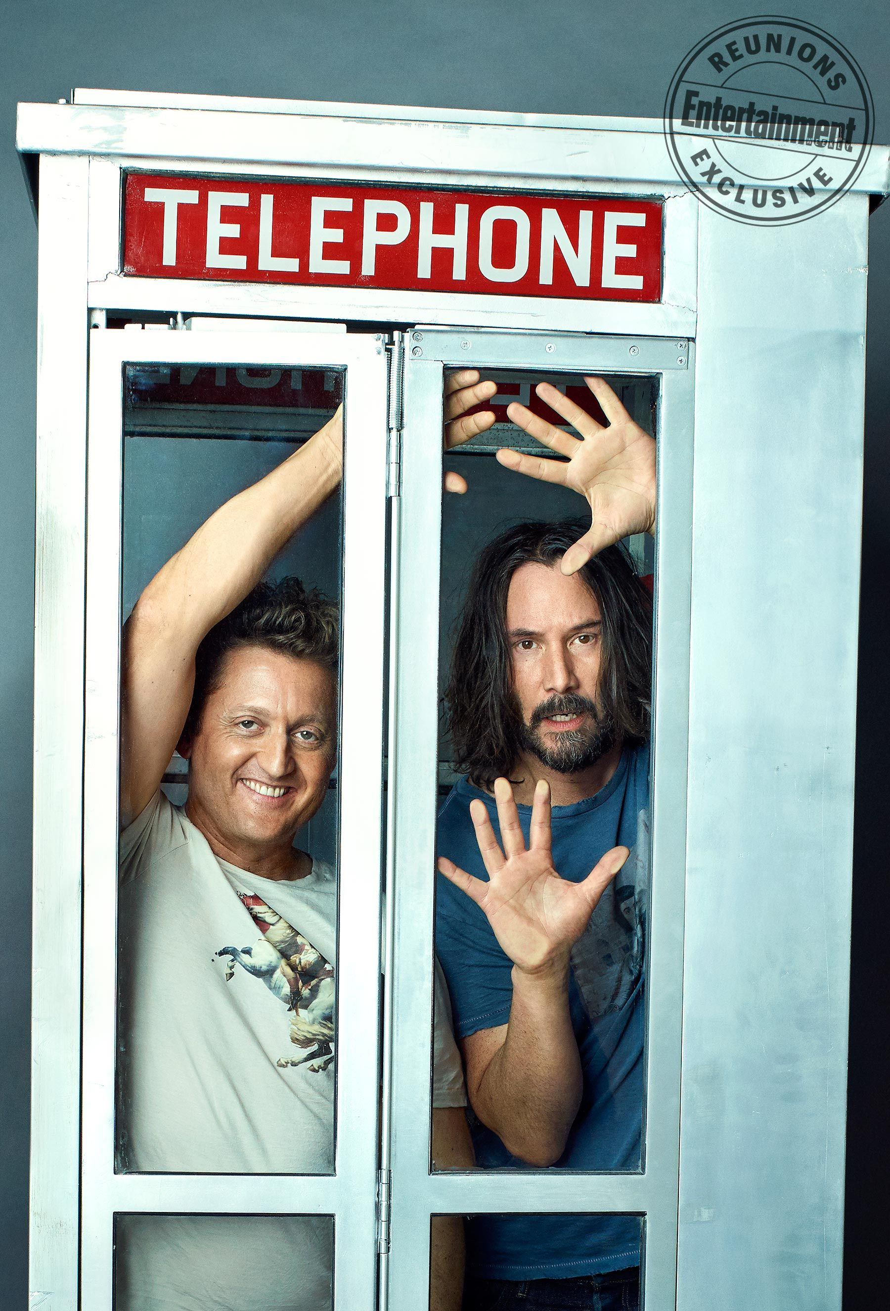 Bill Ted 3 Keanu Reeves And Alex Winter Dish On Proposed Sequel Keanu Reeves Face The Music Alex Winter