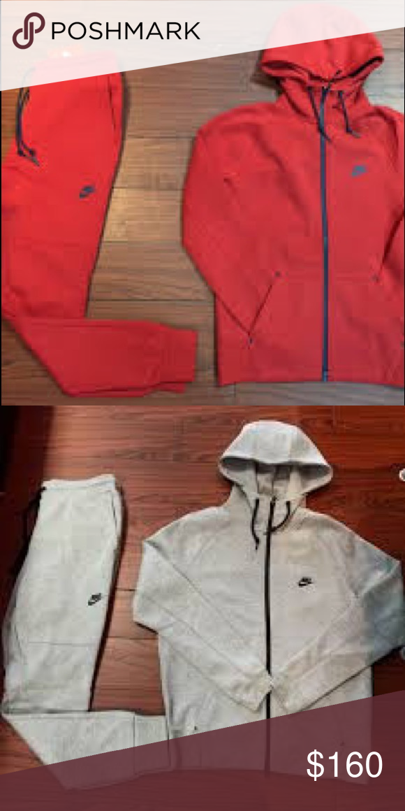 new concept f1073 b6a44 Nike tech suit Grey and red Nike tech suit no marks Brand new 2 suits for  the price of one Nike Sweaters Zip Up
