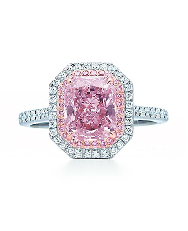 db64d9c7f 7 Unique (Pink!) Engagement Rings | Fashion | Pink diamond ring ...