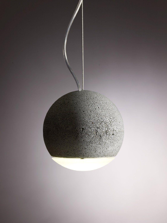 Trabant Pendant Lamp Van Joachim Manz Beton En Glazen Lens, Mat Of Helder. Design Ideas