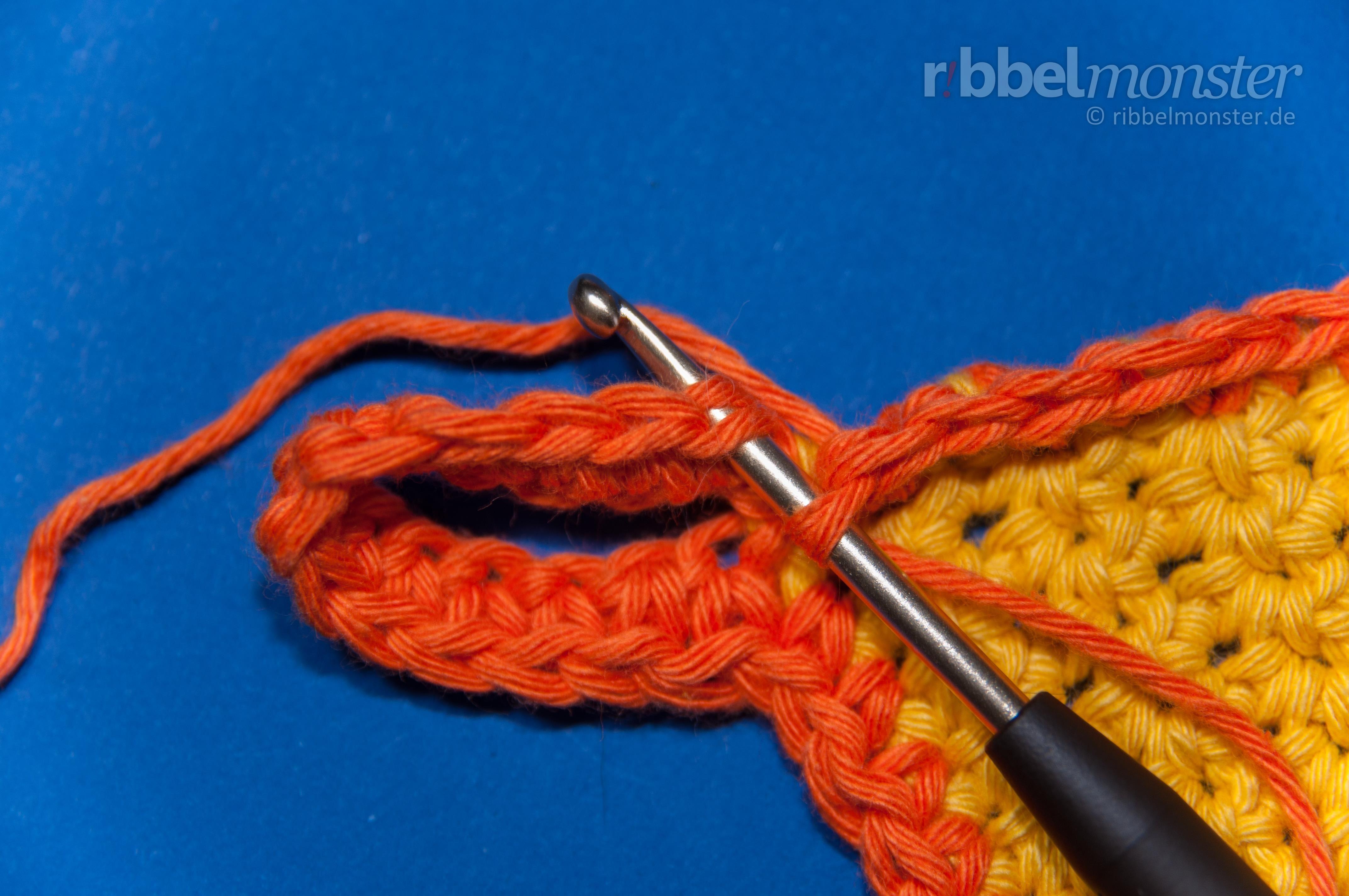 Topflappen häkeln Rand Schlaufe   Häkeln - Crochet   Pinterest ...