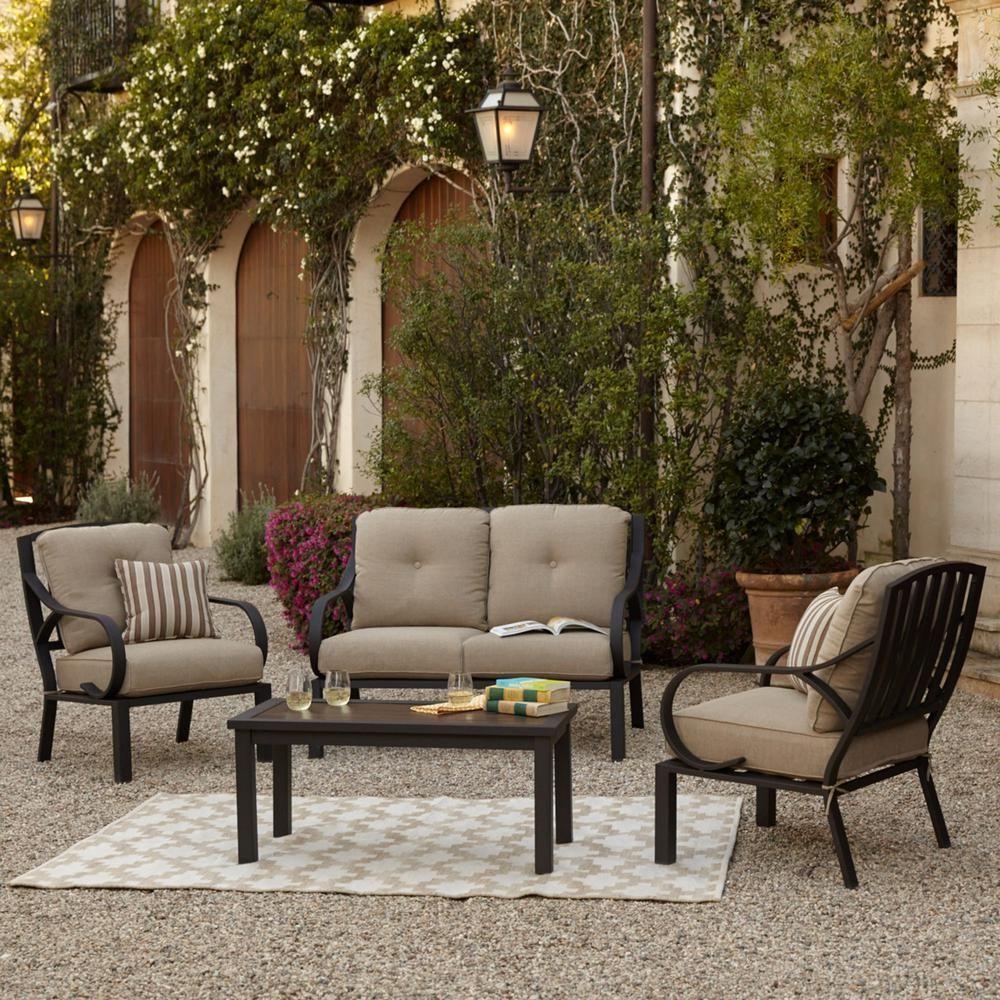 Royal Garden Norman 4-Piece Patio Conversation Set With