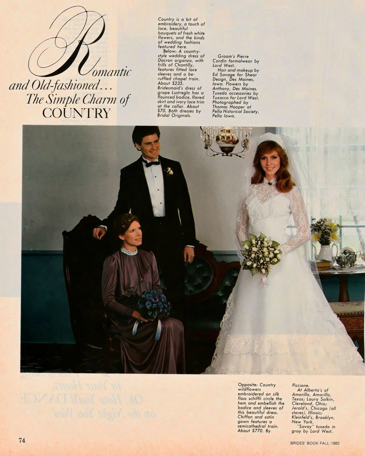 From Better Homes And Garden Bride S Book Fall 1982 80 S And 90 S