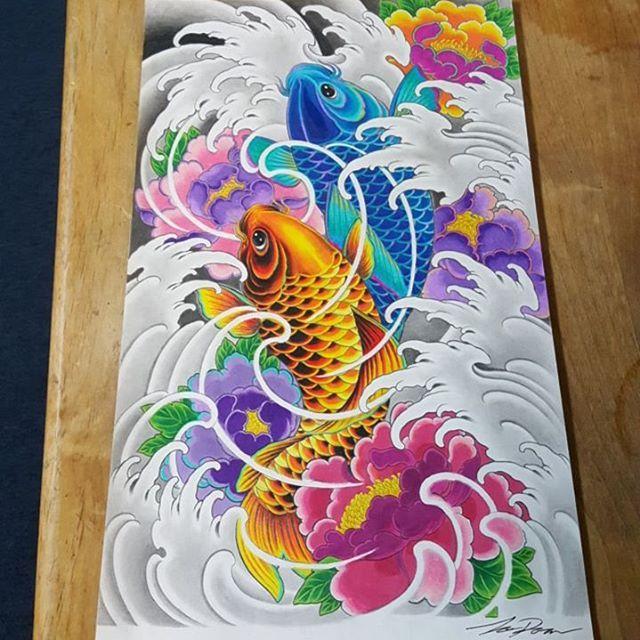 Pin de Quốc Tế en Dragon | Pinterest | Carpas koi, Koi y Tatuaje japonés